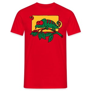 Chamaeleon und Fliege, Farbe, Urwald, Tier, lustig T-Shirts - Männer T-Shirt