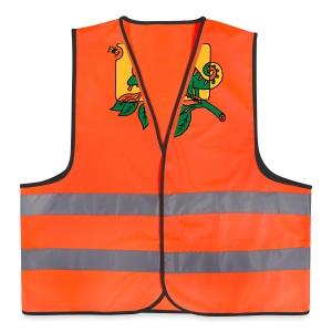Chamaeleon und Fliege, Farbe, Urwald, Tier, lustig T-Shirts - Warnweste