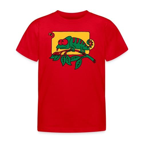 Chamaeleon und Fliege, Farbe, Urwald, Tier, lustig T-Shirts - Kinder T-Shirt