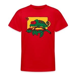 Chamaeleon und Fliege, Farbe, Urwald, Tier, lustig T-Shirts - Teenager T-Shirt