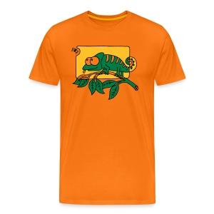 Chamaeleon und Fliege, Farbe, Urwald, Tier, lustig T-Shirts - Männer Premium T-Shirt