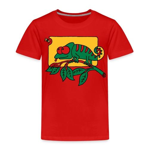 Chamaeleon und Fliege, Farbe, Urwald, Tier, lustig T-Shirts - Kinder Premium T-Shirt