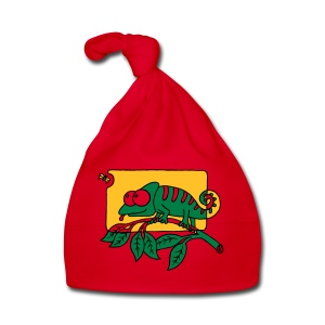 Chamaeleon und Fliege, Farbe, Urwald, Tier, lustig T-Shirts - Baby Mütze