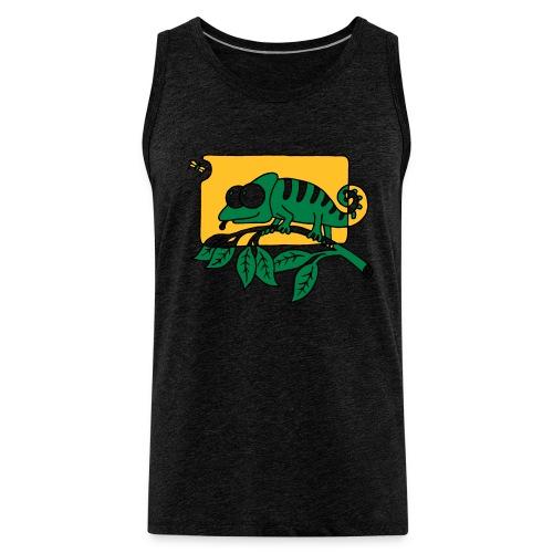 Chamaeleon und Fliege, Farbe, Urwald, Tier, lustig T-Shirts - Männer Premium Tank Top