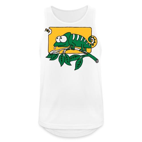 Chamaeleon und Fliege, Farbe, Urwald, Tier, lustig T-Shirts - Männer Tank Top atmungsaktiv