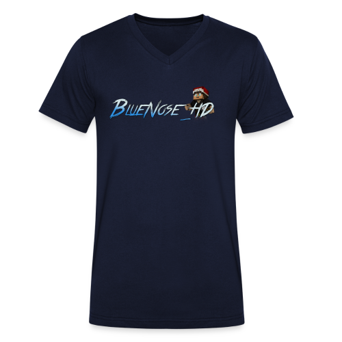 BlueNose_HD T-Shirt - Men's Organic V-Neck T-Shirt by Stanley & Stella