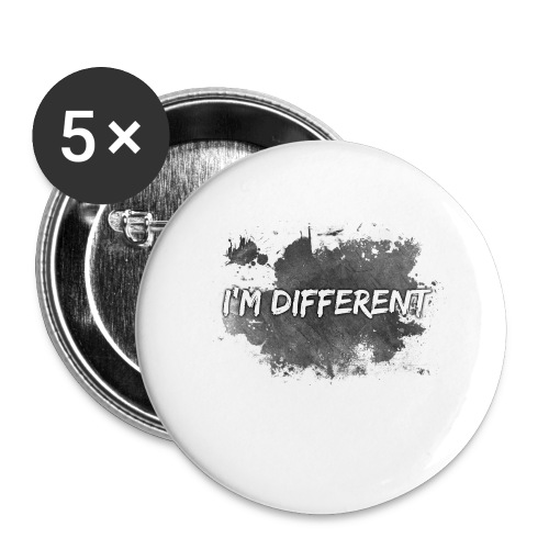 I'M DIFFERENT - Buttons large 2.2''/56 mm(5-pack)
