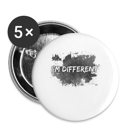 I'M DIFFERENT - Buttons small 1''/25 mm (5-pack)