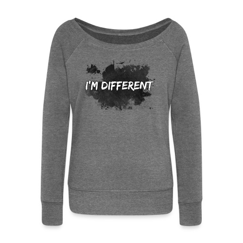 I'M DIFFERENT - Women's Boat Neck Long Sleeve Top