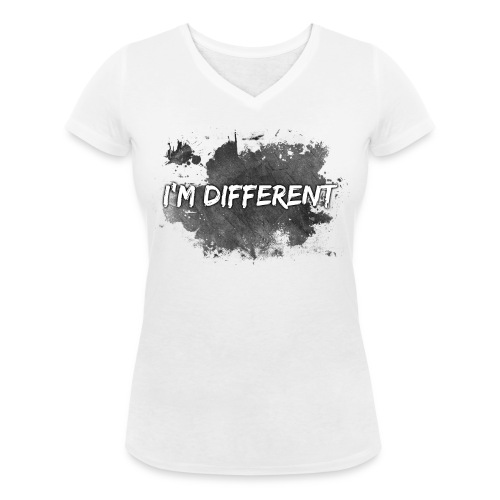 I'M DIFFERENT - Women's Organic V-Neck T-Shirt by Stanley & Stella