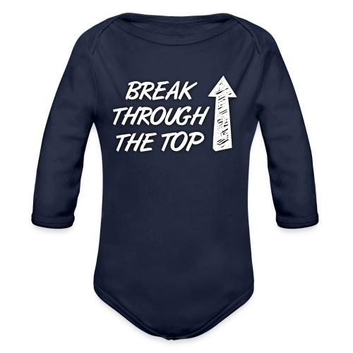BreakThroughTheTop - Organic Longsleeve Baby Bodysuit