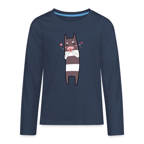 Donut Monster Premium T-Shirt for Kids - Teenagers' Premium Longsleeve Shirt