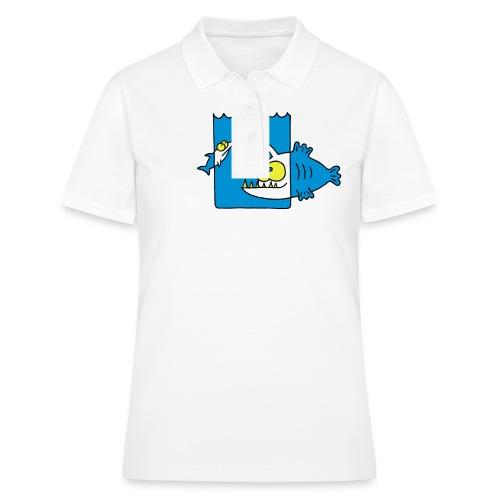 der Anglerfisch leuchtet den Weg, Lampe, angeln Langarmshirts - Frauen Polo Shirt