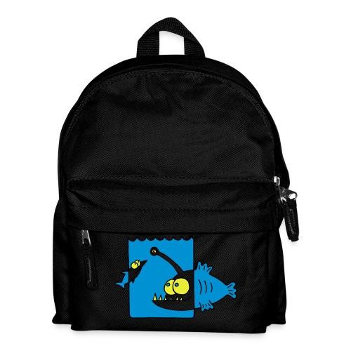 der Anglerfisch leuchtet den Weg, Lampe, angeln Langarmshirts - Kinder Rucksack