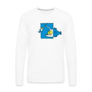 der Anglerfisch leuchtet den Weg, Lampe, angeln Langarmshirts - Männer Premium Langarmshirt