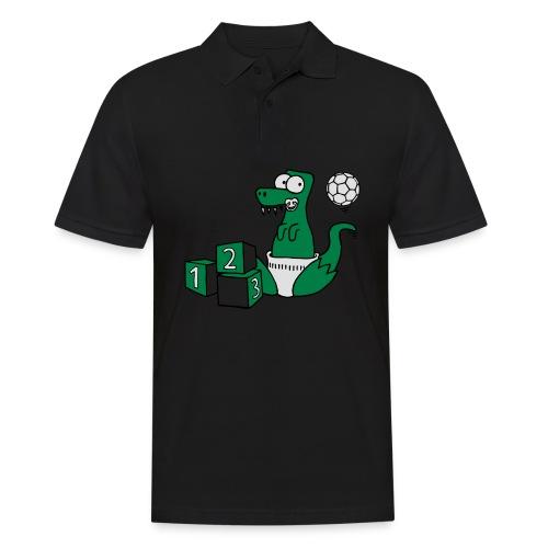 Baby T-Rex Dino mit Ball und Würfel T-Shirts - Männer Poloshirt