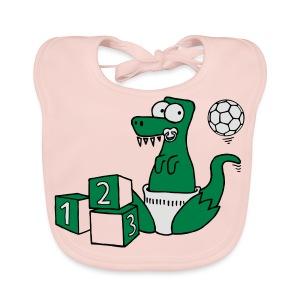 Baby T-Rex Dino mit Ball und Würfel T-Shirts - Baby Bio-Lätzchen