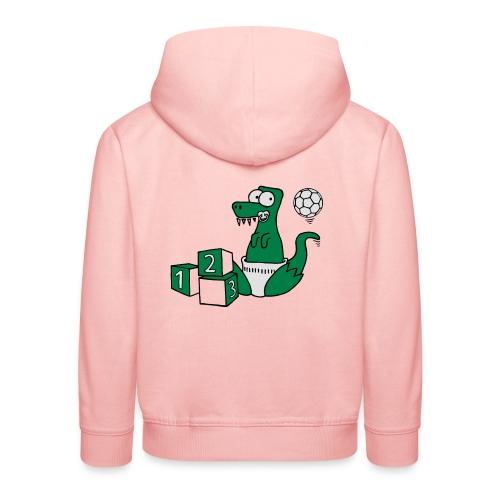 Baby T-Rex Dino mit Ball und Würfel T-Shirts - Kinder Premium Hoodie