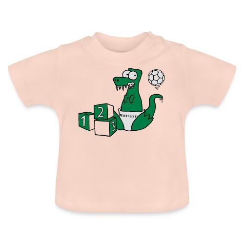 Baby T-Rex Dino mit Ball und Würfel T-Shirts - Baby T-Shirt