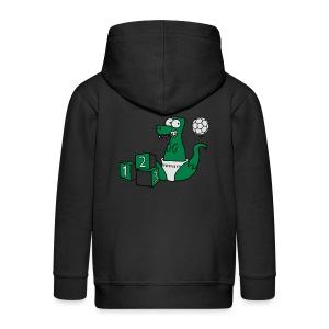 Baby T-Rex Dino mit Ball und Würfel T-Shirts - Kinder Premium Kapuzenjacke