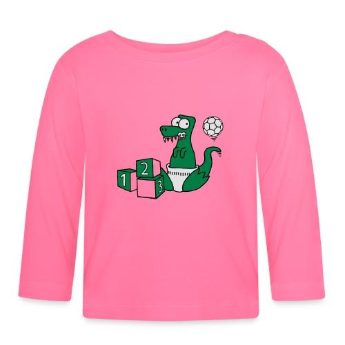 Baby T-Rex Dino mit Ball und Würfel T-Shirts - Baby Langarmshirt