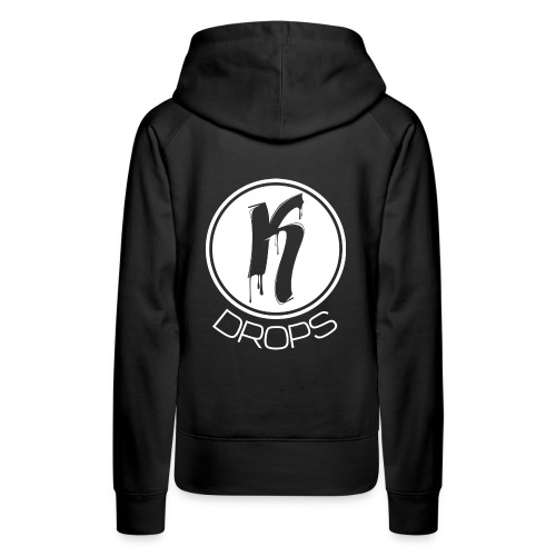 KDrops Female Tank (White Logo) - Women's Premium Hoodie