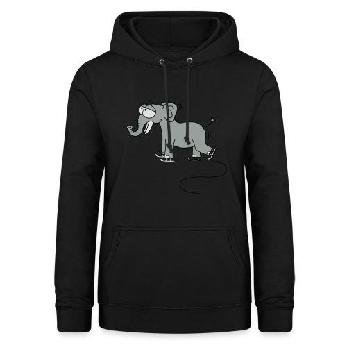 lustiger Elefant beim Schlittschuhfahren, Winter T-Shirts - Frauen Hoodie