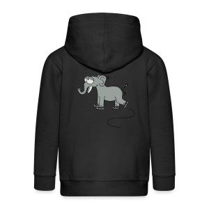 lustiger Elefant beim Schlittschuhfahren, Winter T-Shirts - Kinder Premium Kapuzenjacke