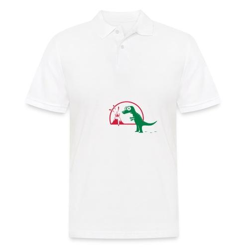 Dino mit Vulkan, T-Rex, Dinosaurier, Echse Baby T-Shirts - Männer Poloshirt