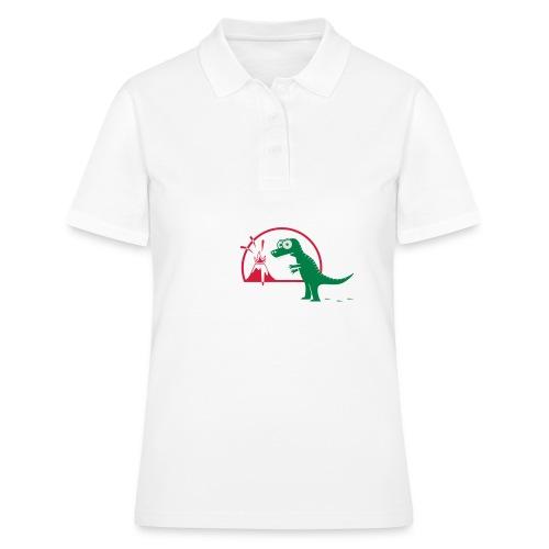 Dino mit Vulkan, T-Rex, Dinosaurier, Echse Baby T-Shirts - Frauen Polo Shirt