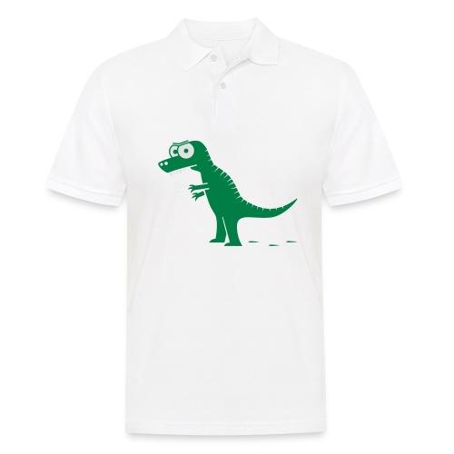 T-Rex mit bösen Zähnen, Dino, Drachen Langarmshirts - Männer Poloshirt
