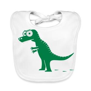 T-Rex mit bösen Zähnen, Dino, Drachen Langarmshirts - Baby Bio-Lätzchen