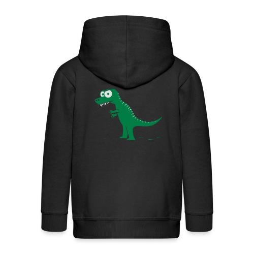 T-Rex mit bösen Zähnen, Dino, Drachen Langarmshirts - Kinder Premium Kapuzenjacke
