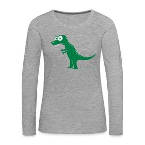 T-Rex mit bösen Zähnen, Dino, Drachen Langarmshirts - Frauen Premium Langarmshirt