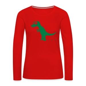 T-Rex König der Dinosaurier, Drache T-Shirts - Frauen Premium Langarmshirt