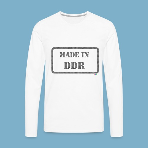 DDR Retro Motiv  - Männer Premium Langarmshirt