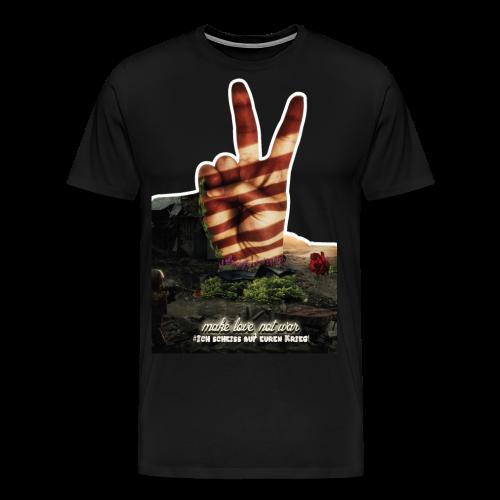 Shirt Love not War - Männer Premium T-Shirt