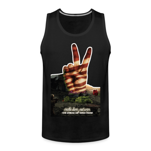 Shirt Love not War - Männer Premium Tank Top