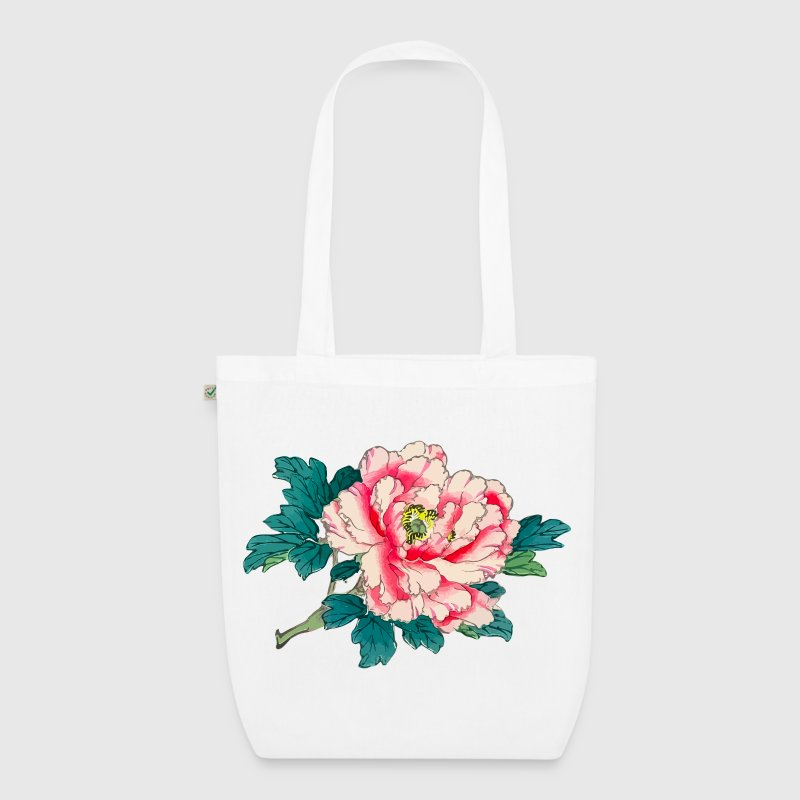 Flower - Ukiyo-e Bags & Backpacks - EarthPositive Tote Bag