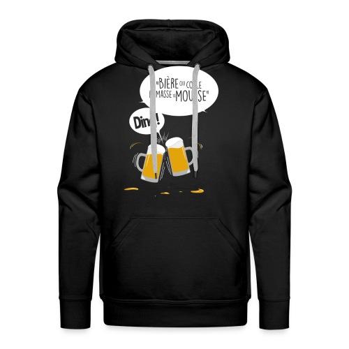 Bière qui coule ramasse ta mousse - Sweat-shirt à capuche Premium pour hommes