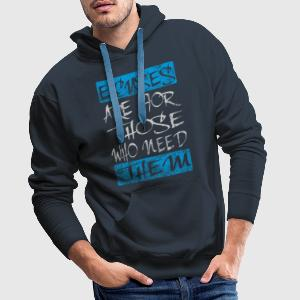 excuses white blue T-Shirts - Männer Premium Hoodie