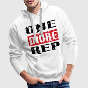 one more rep black red T-Shirts - Männer Premium Hoodie
