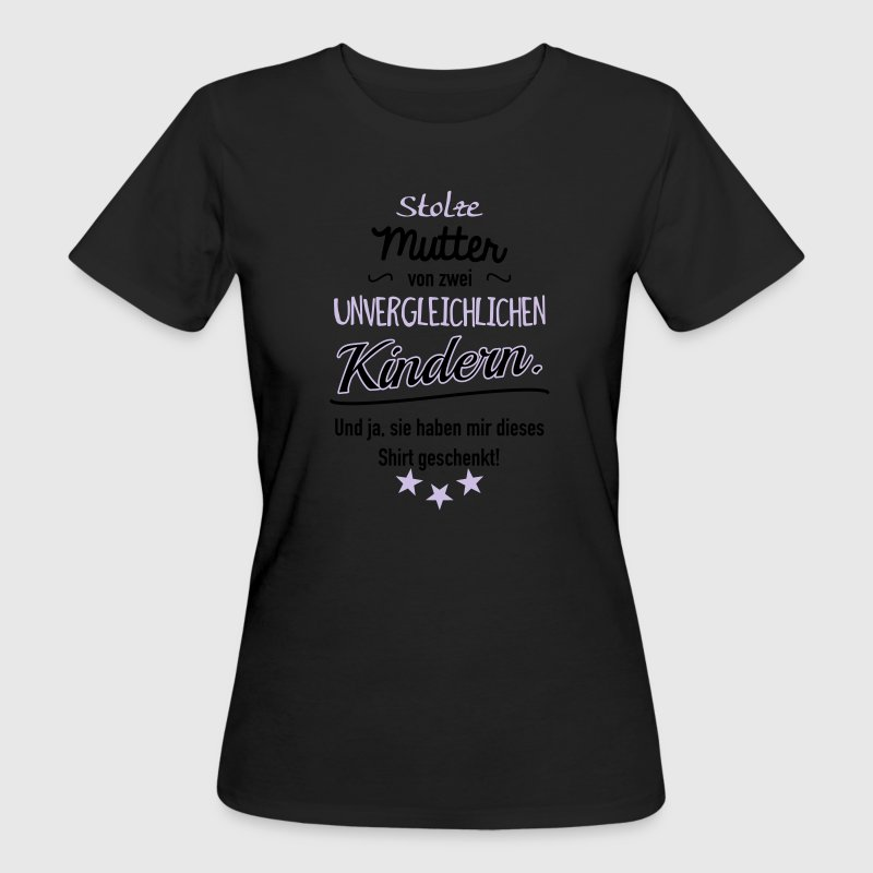 Stolze Mutter zwei Kinder T-Shirts - Frauen Bio-T-Shirt