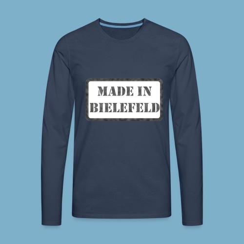 Made in Bielefeld - Männer Premium Langarmshirt