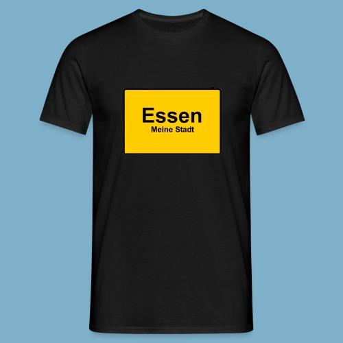 City Motiv Ortsschild Essen - Männer T-Shirt