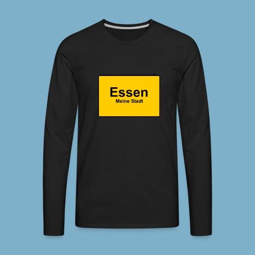 City Motiv Ortsschild Essen - Männer Premium Langarmshirt