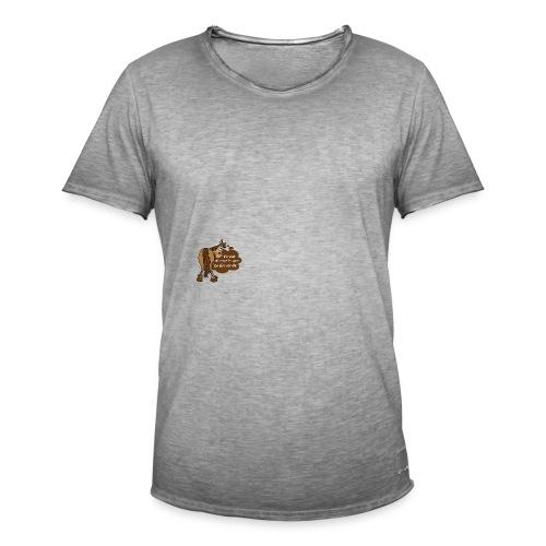 Schnelles Pferd-Braun - Männer Vintage T-Shirt
