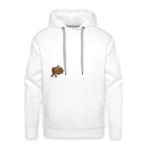 Schnelles Pferd-Braun - Männer Premium Hoodie