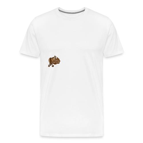 Schnelles Pferd-Braun - Männer Premium T-Shirt