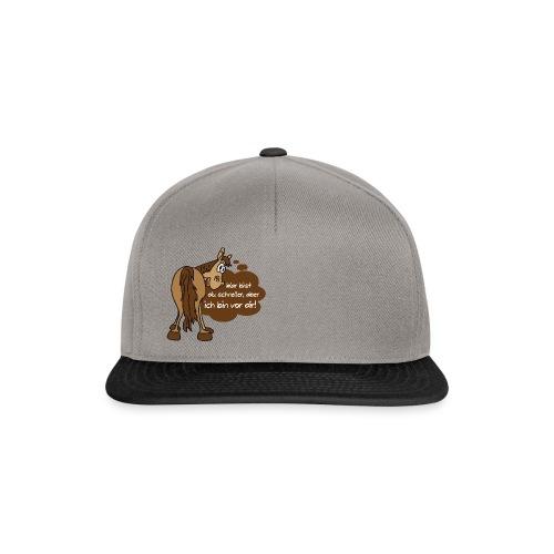 Schnelles Pferd-Braun - Snapback Cap